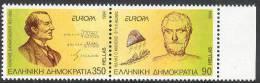 Greece Grèce Griechenland, EUROPA CEPT 1994, Thales From Miletus, Karatheodoris Mathematician, Equations MNH (**) - 1994