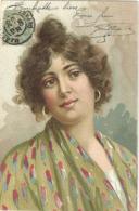 Portrait De Femme Boucle D Oreille Coiffure - Donne