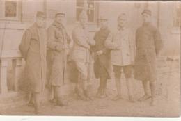 Rare Photo Carte Groupe De Soldats à Longui Les Dijon, 1917 - 1914-18