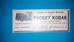 Ancienne Pub De 1896,poket Kodak - Pubblicitari