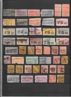France Colis Postaux Lot De 76 Tp 1892-1960 O - Oblitérés