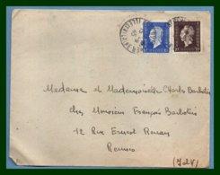 St Servan Sur Mer Type A4 1945 / Dulac N° 682 + 687 - Marcophilie (Lettres)