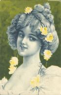 Portrait De Femme Fleurs - Mujeres