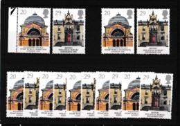 1990 Gran Bretagna Great Britain EUROPA CEPT EUROPE Edifici Postali 7 Serie Di 2v. MNH** POST OFFICE - 1990