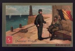Belgique Facteur Poste Phare Chocolat Klaus Chromo Postes Universelles - Chocolade