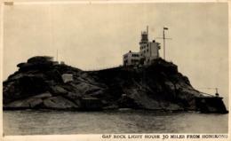 Very Rare Rppc Gap Rock Light House  LIGHTHOUSE PHARE  FARO 30 Miles From Hongkong    HONG KONG HONGKONG CHINA CHINE - China (Hong Kong)