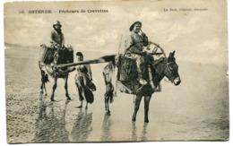 CPA - Carte Postale - Belgique - Ostende - Pêcheurs De Crevettes - 1924 (I10386) - Oostende