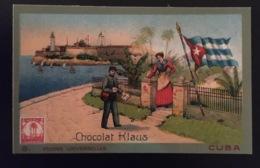 Cuba Facteur Poste   Chocolat Klaus Chromo Postes Universelles - Chocolate