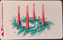 Telefonkarte Ukraine - Kiew - Weihnachten - Kerzen - K288 11/97 - Ukraine