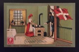 Danemark Facteur Poste Fourneau    Chocolat Klaus Chromo Postes Universelles - Altri