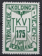 Denmark Local Railway Parcel Post,Trolhede 175 Oere  .Trains/Railways/Eisenbahnmarken - Trains