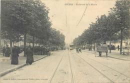 CPA 49 Maine Et Loire Angers Boulevard De La MairieTramway Attelage - Angers