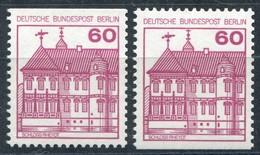 611 BuS 60 Pf Rot, Alte Fluoreszenz, C/D-Werte ** - Non Classés