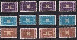 Cept 1963 Chypre Cyprus Yvertn° 217-19 *** MNH 4 Séries Cote 280 Euro - Europa-CEPT