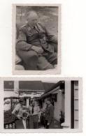 2 Photographies Originales Luftwaffe Pilotes Allemands Tours été 1944 Débarquement 1939 - 1945 WWII - 1939-45