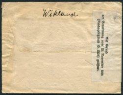 1919 Sweden Customs Label Cover - Internationellt Etablissement, Flossplatz, Leipzig Germany - Sweden