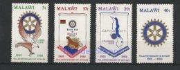 121.MALAWI 1980 SET/4 STAMP 75TH. ANNIVERSARY ROTARY INTERNATIONAL, BIRDS, ANIMALS. MNH - Malawi (1964-...)