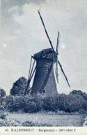 KALMTHOUT (Antw.) - Molen/moulin - Blauwe Prentkaart Van De Verdwenen Heimolen (bergmolen), Gedynamiteerd In 1944. - Kalmthout