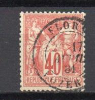 - FRANCE N° 70 Oblitéré CAD - 40 C. Rouge-orange Type Sage I - Cote 35 EUR - - 1876-1878 Sage (Type I)