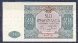 Poland  - 1946 - 20 Zlotych .ser C....P127b..aUNC/UNC.. - Poland