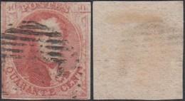 "BELGIQUE COB N°12 VARIETE V2 "" PLANCHE FELEE "" NON MARGE (DD) DC-4445 - 1858-1862 Medallions (9/12)"
