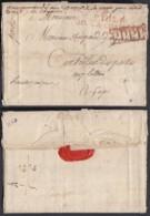 """FRANCE LETTRE """"P.103.P. / AIX LA-CHAPELLE""""15/04/1813 + ENCADRE P.P.P.P. VERS GAP (DD) DC-4465 - Marcophilie (Lettres)"""