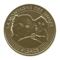 Monnaie De Paris , 2017 , Kintzheim , La Montagne Des Singes , Alsace , La Mère Et Son Petit - Monnaie De Paris