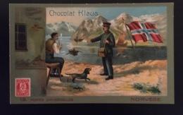 NORVÈGE Chien Basset ? Facteur Poste   Chocolat Klaus Chromo Postes Universelles - Altri