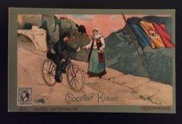 Roumanie   Facteur Poste   VÉLO Chocolat Klaus Chromo Postes Universelles - Chocolat