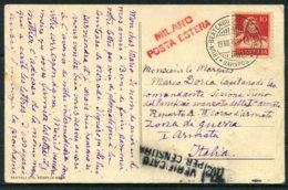 1916 Eichbuhl Hunibach Pres Thoune Postcard. Thun Beatenbucht Interlaken Bahnpost Railway - Italy Italian Army. Censor 2 - Switzerland