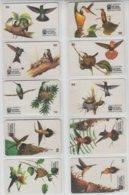 BRASIL 1997 HUMMING BIRDS COLIBRI SET OF 10 PHONE CARDS - Otros