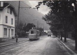 Tram Martigny Station. Small Photo 9,5 X 6,5 Cm. No Postcard. - VS Valais