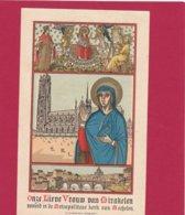 Neogotisch Devotieprent Onze Lieve Vrouw Van Mirakelen - Religion & Esotericism