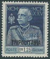 1925-26 TRIPOLITANIA GIUBILEO 1,25 LIRE D. 13 1/2 MH * - RB30-6 - Tripolitania