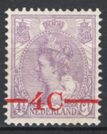 Olanda 1921 Unif.98 **/MNH VF/F - Unused Stamps