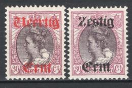 Olanda 1919 Unif.94/95 **/MNH VF/F - Unused Stamps
