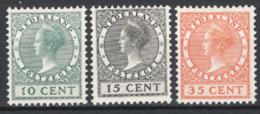 Olanda 1924 Unif.154/56 **/MNH VF/F  Cert.R.Diena - Periodo 1891 – 1948 (Wilhelmina)