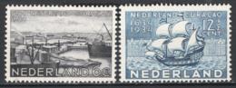 Olanda 1934 Unif.265/66 **/MNH VF - Periodo 1891 – 1948 (Wilhelmina)