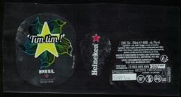 France Lot 3 Étiquettes Bière Beer Labels Bière Heineken Santé Tim Tim Brésil - Bier