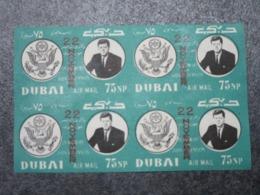 DUBAÏ - Mi 144B - Bloc De 4 MNH - John KENNEDY - Briefmarken