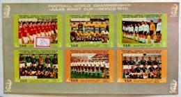 122.YEMEN ARAB REPUBLIC 1970 IMPERF STAMP S/S FOOTBALL. MNH - Jemen