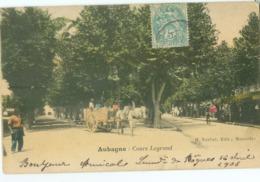 Aubagne 1906; Cours Legrand - Voyagé. (H. Nurbat - Marseille) - Aubagne