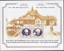 5X INDIA 2018 India - Africa: Mahatma Gandhi & Nelson Mandela; Miniature Sheet, MINT - India