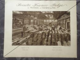 Affiche - Planche Train FRANCO BELGE DE MATERIEL DE CHEMINS DE FER Usine De Raismes Magasin Au Bois Scierie - Spoorweg
