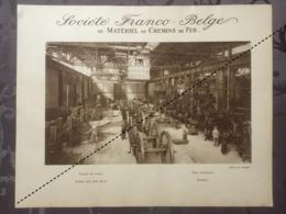 Affiche - Planche Train FRANCO BELGE DE MATERIEL DE CHEMINS DE FER Usine De Raismes Trains De Roues - Spoorweg