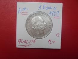 EMPIRE D'AUTRICHE 1 FLORIN 1889 ARGENT QUALITE !!! (A.1) - Austria