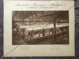 Affiche - Planche Train FRANCO BELGE DE MATERIEL DE CHEMINS DE FER Usine De Raismes Montage De Voiture - Spoorweg