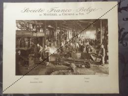 Affiche - Planche Train FRANCO BELGE DE MATERIEL DE CHEMINS DE FER Usine De Raismes Forges - Spoorweg