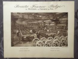 Affiche - Planche Train FRANCO BELGE DE MATERIEL DE CHEMINS DE FER Usine De Raismes Montage Des Chassis - Spoorweg