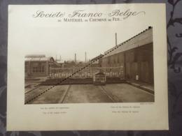 Affiche - Planche Train FRANCO BELGE DE MATERIEL DE CHEMINS DE FER Usine De Raismes Vue Des Ateliers - Spoorweg